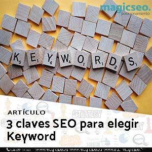 3 claves keyword web - ARTÍCULOS