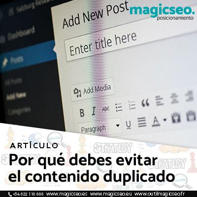 contenido duplicado web - ARTÍCULOS