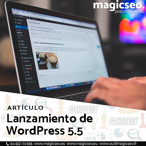 Lanzamiento de WordPress 5.5 - ARTÍCULOS